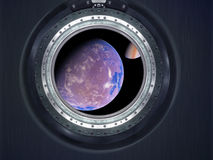 Alien Exo Planet. Elements of this image furnished by NASA Royalty Free Stock Photo