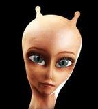 Alien Face Royalty Free Stock Photos