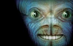 Alien Face. Digital Illustration of an alien Royalty Free Stock Photos