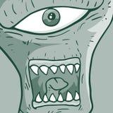 Alien face Stock Image
