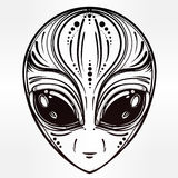 Alien face icon vector illustration. Royalty Free Stock Photo