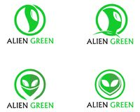 Alien face icon vector logo and symbols template app vector illustration