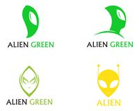 Alien face icon vector logo and symbols template app royalty free illustration
