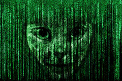 Matrix face Royalty Free Stock Photos
