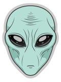 Alien face. Vector illustration of alien face on white vector illustration