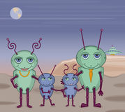 Alien Family Photo Royalty Free Stock Photography