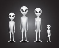 Alien family Stock Photography
