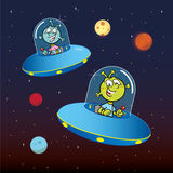 Alien Flying Saucers Royalty Free Stock Photography