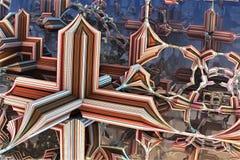 Alien fractal background. 3d illustration Royalty Free Stock Images