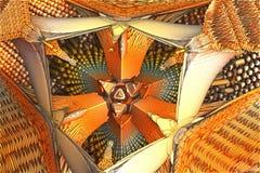 Alien fractal background. 3d rendering Stock Photos
