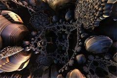 Alien fractal structure. 3d illustration Stock Photos