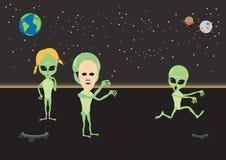 Alien fun vector illustration Royalty Free Stock Image