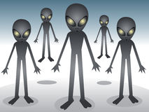 Alien gang Royalty Free Stock Image