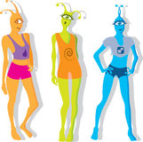 Alien Girls Royalty Free Stock Images