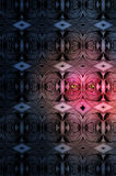 Alien. An golden eyed alien hidden in a wall with a similar pattern Stock Photos