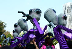 Alien in Grand Finale Parade Royalty Free Stock Photo