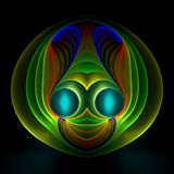 Alien happy face. Abstract fractal image resembling an alien happy face Stock Photo