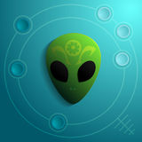 Alien Head Vector Icon Stock Images