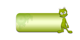 Alien Header Royalty Free Stock Image
