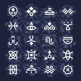 Alien Hieroglyphs Royalty Free Stock Photo