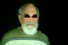 Alien human. Senior grandfather that is part human and part alien Stock Images
