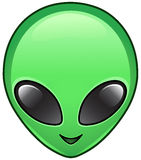 Alien icon. Vector icon of an alien face Stock Images