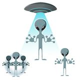 Alien icons Royalty Free Stock Photography