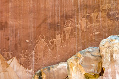 Alien inspired Petroglyph Royalty Free Stock Image