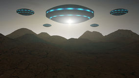 Alien invasion Royalty Free Stock Image