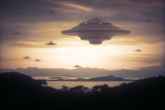 Alien Invasion Royalty Free Stock Images