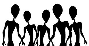 Alien Invasion Figure Outlines royalty free stock photography
