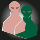 Alien invasion figures Royalty Free Stock Images