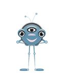 Alien isolate. Friendly little alien isolate  on white background Royalty Free Stock Photography