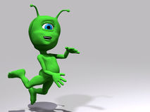 Alien - jump Stock Images
