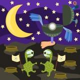 Alien landing Royalty Free Stock Photos