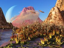 Alien landscape Royalty Free Stock Photos