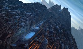 Alien LandScape 2. Alien LandScape in 3D Rendering Stock Photography