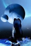 Alien landscape Royalty Free Stock Photography