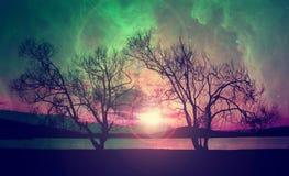 Alien landscape background Royalty Free Stock Photography