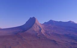 Alien landscape, fantastic planet. Computer generated artwork royalty free stock photos