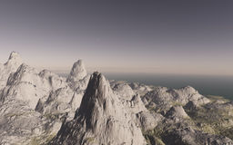 Alien landscape, fantastic planet. Computer generated artwork royalty free stock images