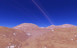 Alien landscape, fantastic planet. Computer generated artwork royalty free stock photo