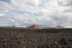 Alien landscape of Lanzarote Stock Images