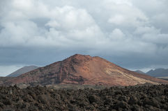 Alien landscape of Lanzarote Stock Photography