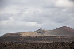 Alien landscape of Lanzarote Royalty Free Stock Images
