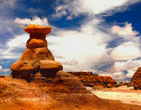 Alien Landscape, Rock Formations, Utah,. Alien landscape of rock formations - hoodoos, Goblin Valley, American desert landscape royalty free stock images