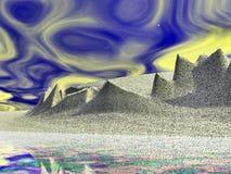 Alien Landscape Spiky Royalty Free Stock Image