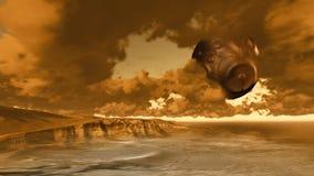 Alien landscape Stock Photo