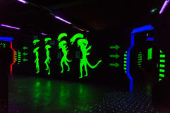 Alien laser tag arena Royalty Free Stock Photo