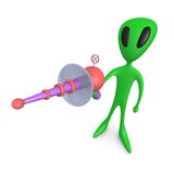 Alien with Lasergun Royalty Free Stock Photo